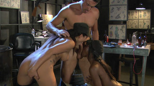 Ana Foxxx, London Keyes, Ryan Driller - This Aint The Expendables sc5, 2012, HD, 720p