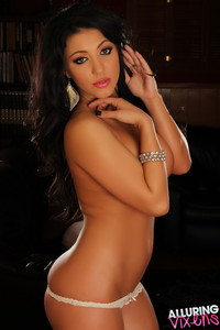 Maria Leana - White Lace - AlluringVixens Hot Pics