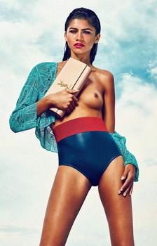 Zendaya Coleman topless for Allure Magazine