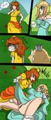 Eente - Mushrooms - Rosalina x Daisy - Comic with Super mario parody