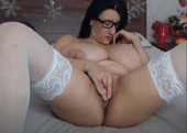 Russian Huge Titty Bitch White Stockings